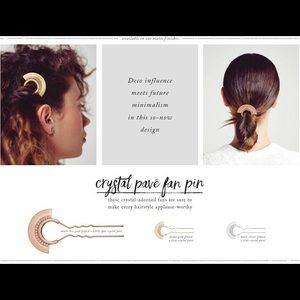 c+i Crystal Pavé Fan Pin H020-S/G/RG